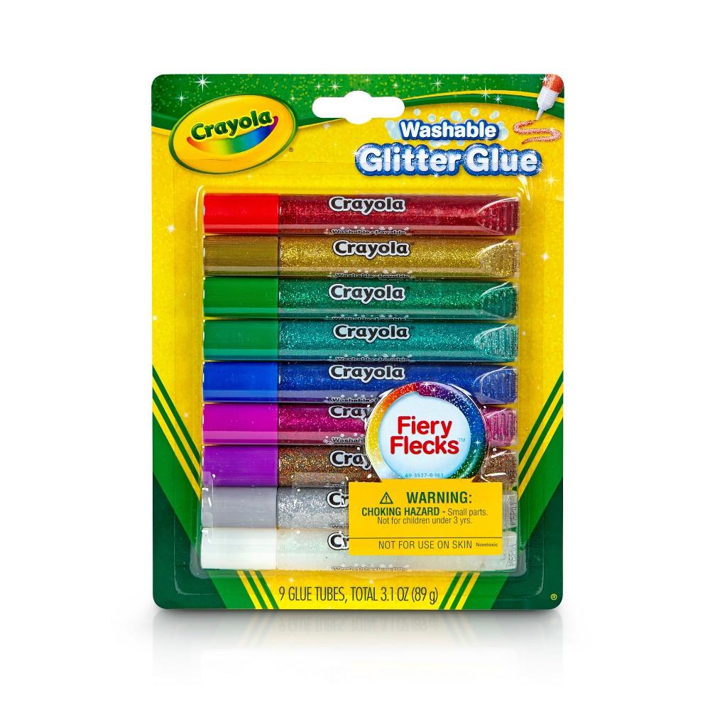 Crayola Glitter Glue Washable 9ct, Blue