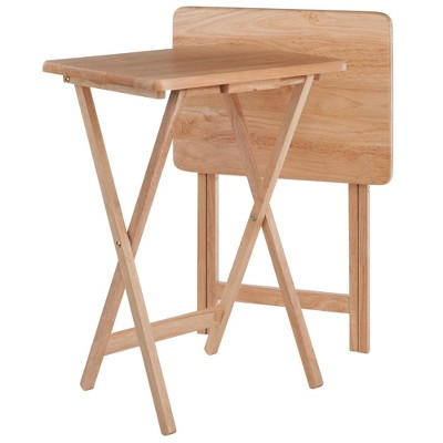 2pc Alex Snack Table Set Natural - Winsome