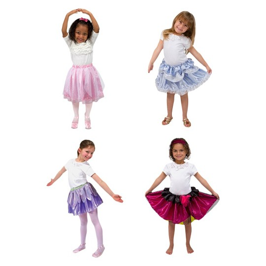 Melissa & Doug Role Play Collection - Goodie Tutus! Dress-Up Skirts Set (4 Costume Skirts), Adult Unisex image number null
