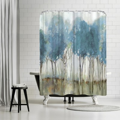 """Americanflat Misty Meadow I by Pi Creative Art 71"""" x 74"""" Shower Curtain"""