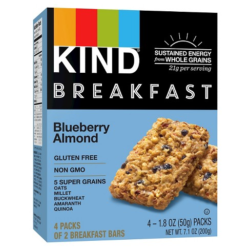 KIND Blueberry Almond Breakfast Bars - 4pk of 2 Bars - image 1 of 4