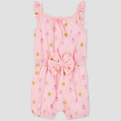 Baby Girls' Ladybug Romper - Just One You® made by carter's Pink 9M
