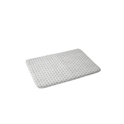 Holli Zollinger Boho Diamond Memory Foam Bath Mat White - Deny Designs