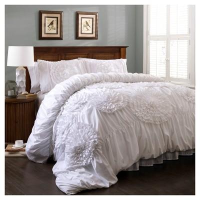 White Serena Comforter Set (King)3pc - Lush Decor®