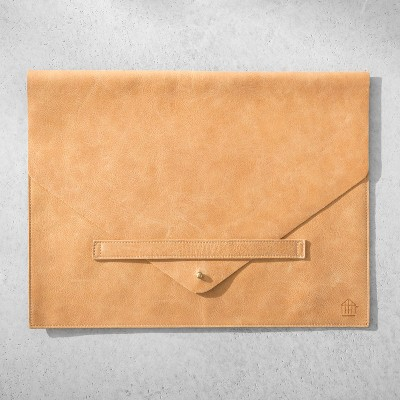 Genuine Leather Document/Laptop Sleeve - Cognac - Hearth & Hand™ with Magnolia