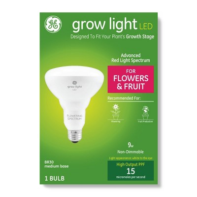 General Electric BR30 Grow Light With Advanced Red Spectrum Flowers & Fruits LED Light Bulb - Clear