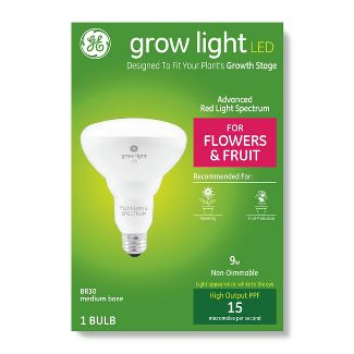 General Electric BR30 Grow Light With Advanced Red Spectrum Flowers & Fruits LED Light Bulb Clear