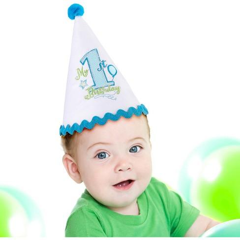 Babys First Birthday Cap Blue Target
