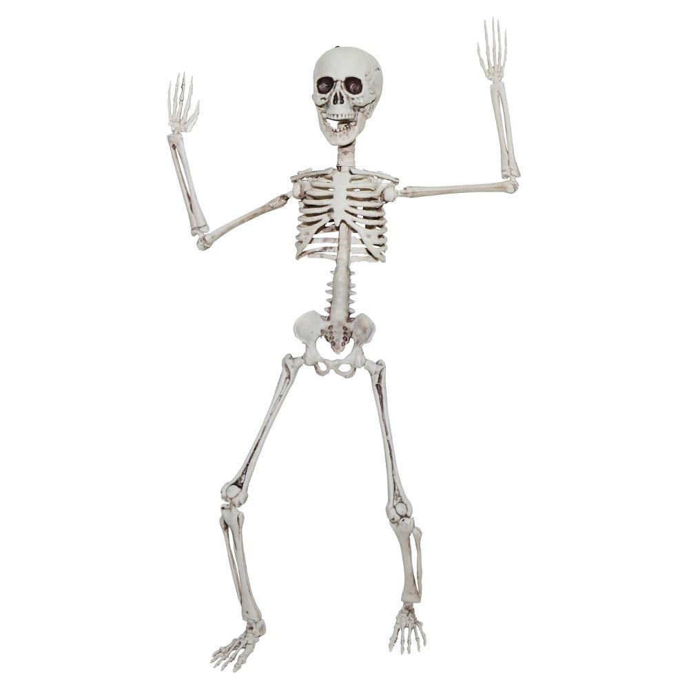 "Image of ""20"""" Halloween Poseable Skeleton, Beige"""