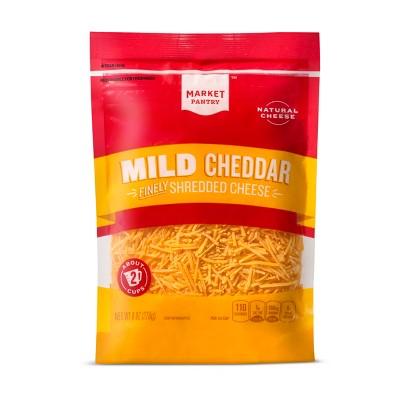 Finely Shredded Mild Cheddar Cheese - 8oz - Market Pantry™