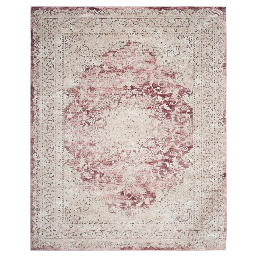 Rose (Pink) Floral Loomed Area Rug 9'X12' - Safavieh