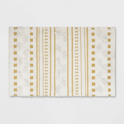 2'x3' Stripe Woven Accent Rug Light Off-White - Opalhouse™