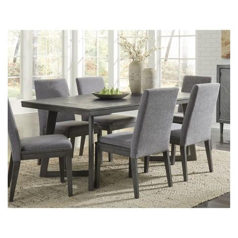 Besteneer Rectangular Dining Room Table Dark Gray Signature Design By Ashley Target
