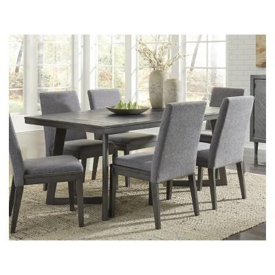 Beau Besteneer Rectangular Dining Room Table Dark Gray   Signature Design By  Ashley