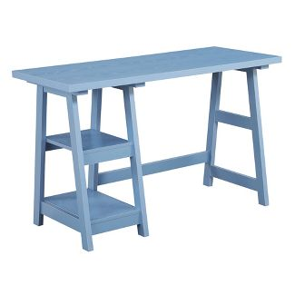 Designs2Go Trestle Desk Blue - Johar Furniture