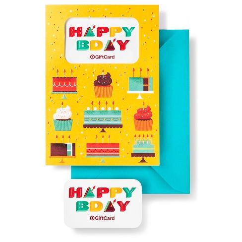 Happy Birthday Gift Card Free Greeting Target