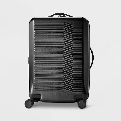 "Hardside 21"" Carry On Suitcase Black - Open Story™"