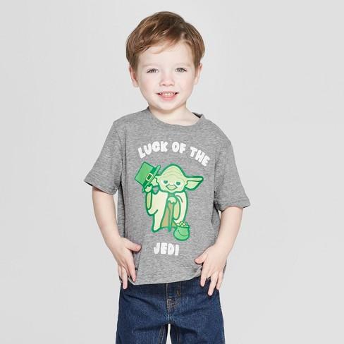 Toddler Boys' Star Wars Short Sleeve T-Shirt - Gray - image 1 of 3