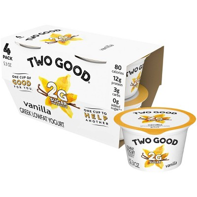 Dannon Two Good Vanilla Greek Yogurt - 4pk/21.2oz