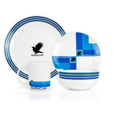 Seven20 Harry Potter Ravenclaw 16-Piece Porcelain Dinnerware Set | Plates, Bowls & Mugs
