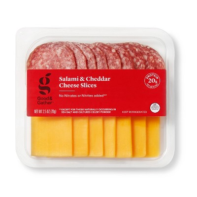 Salami and Cheddar Cheese Slices - 2.5oz - Good & Gather™