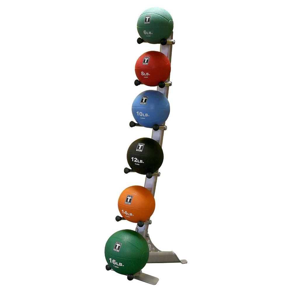 Body Solid Medicine Ball Rack with Medicine Balls 4-6-8-1...