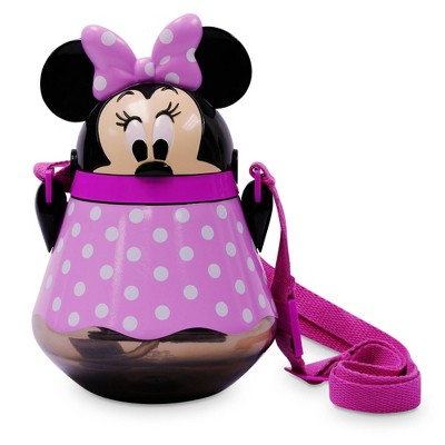 Disney Mickey Mouse & Friends 22oz Plastic Flip Top Tumbler with Strap Pink