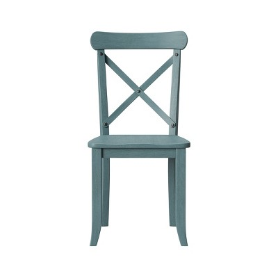 Litchfield Set of 2 X-Back Dining Chair Blue - Threshold™
