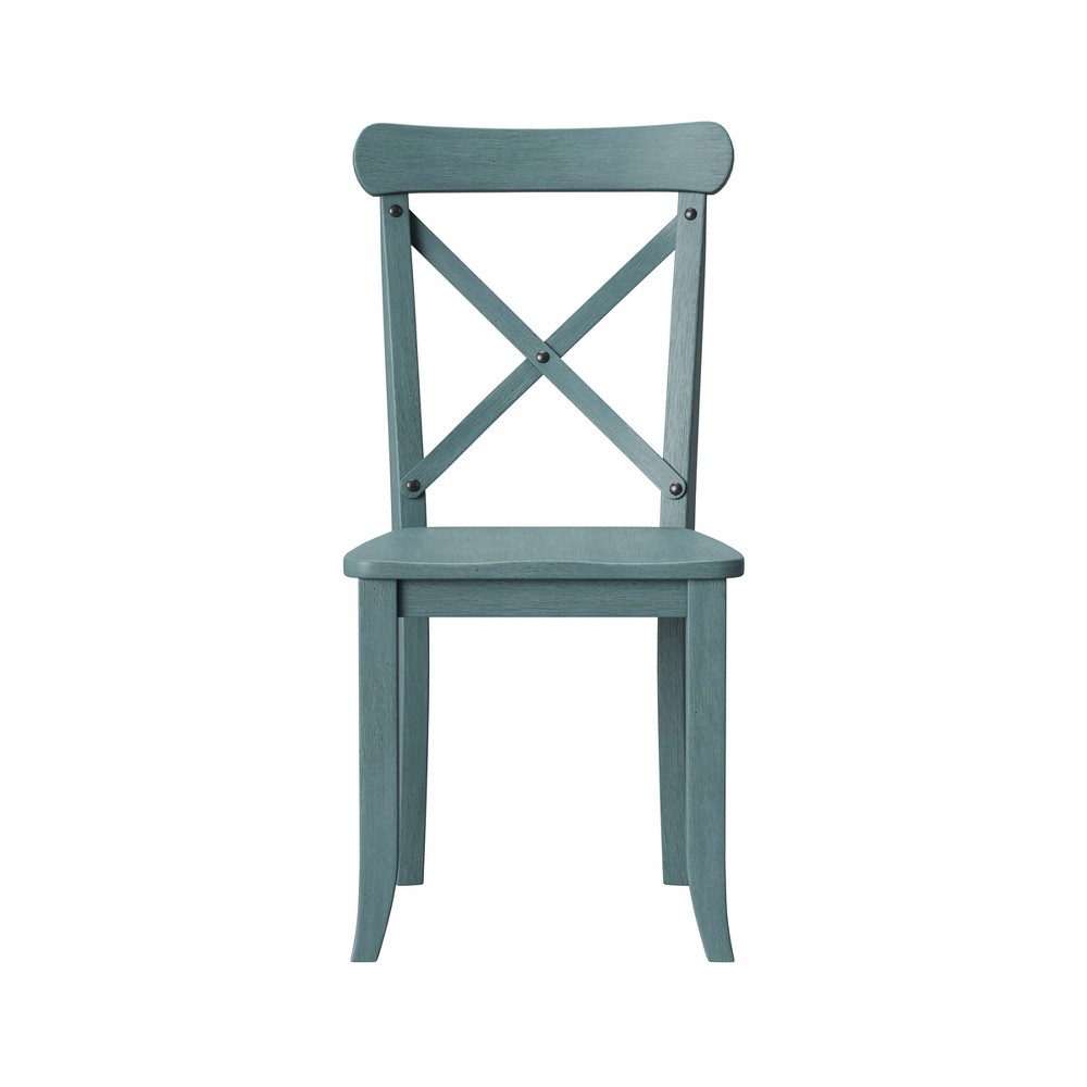 Litchfield Set of 2 X-Back Dining Chair Blue - Threshold