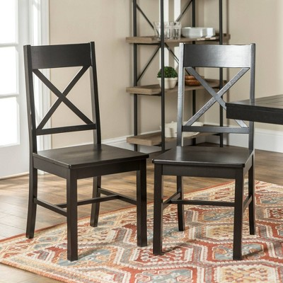 Set of 2 Traditional Distressed Wood Dining Chairs - Saracina Home