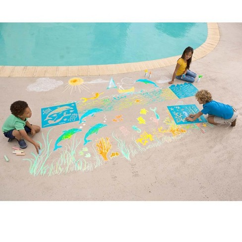 Chalkscapes Under-The-Sea Chalk Stenciling Set - Hearthsong - image 1 of 2