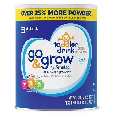 Similac Go & Grow Milk Base Toddler Formula - 30.8oz
