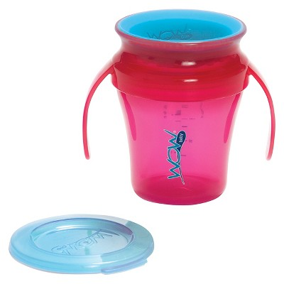 Wow Cup® Spill Free 360-Degree Drinking Edge Training Cup 9M+ Pink