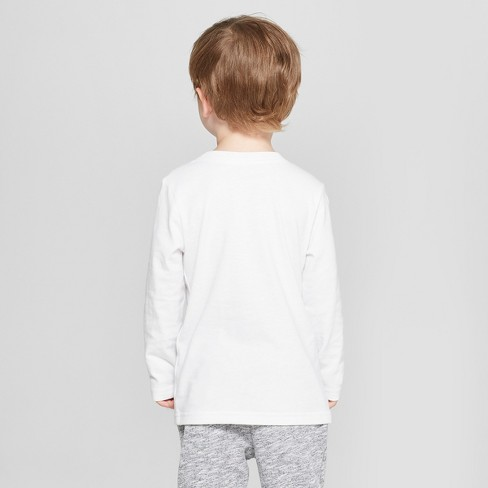 d0f68c880e7a0 Toddler Boys  Long Sleeve T-Shirt - Cat   Jack™ White   Target