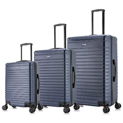 InUSA Deep Lightweight 3pc Hardside Spinner Luggage Set - Blue