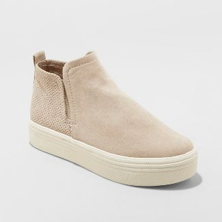 Women's Liz Microsuede High Top Sneakers - Universal Thread™ Taupe 6