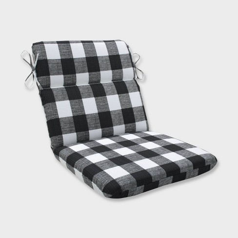 Anderson Rounded Corners Outdoor Chair Cushion Black - Pillow Perfect - image 1 of 1