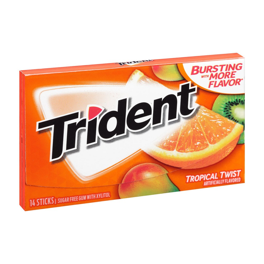 Trident Tropical Twist Sugar Free Gum - 14ct