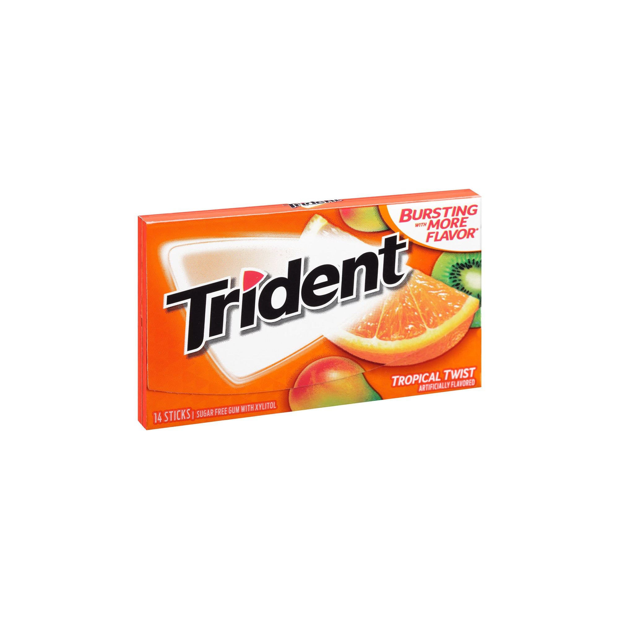 Trident Tropical Twist Sugar Free Gum - 14ct