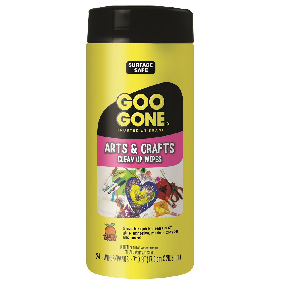 Arts and Crafts Clean-Up Wipes 24ct Citrus - Goo Gone, White