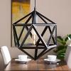 Lugh Geometric Cage Pendant Lamp - Matte Black - Aiden Lane - image 2 of 4