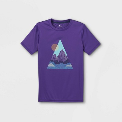 Boys' Short Sleeve Mountain Graphic T-Shirt - All in Motion™ Purple