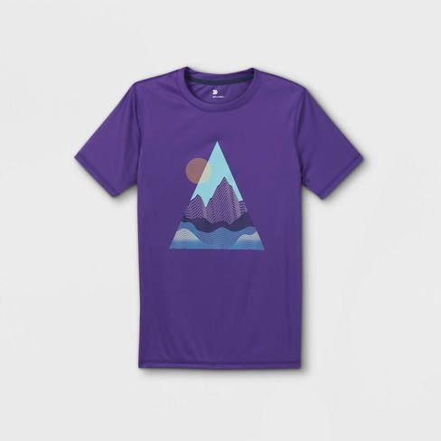 Boys' Short Sleeve Mountain Graphic T-Shirt - All in Motion™ Purple - image 1 of 2
