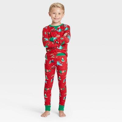 Kids' Holiday Dino Print Matching Family Pajama Set - Wondershop™ Red