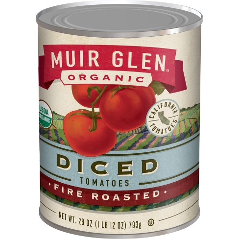 Muir Glen Organic Diced Fire Roasted Tomatoes 28oz - image 1 of 6