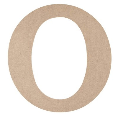 Juvale Unfinished Wooden Alphabet Letters for Home Wall Decor, Greek Letter O for Omicron (11.6 in.)