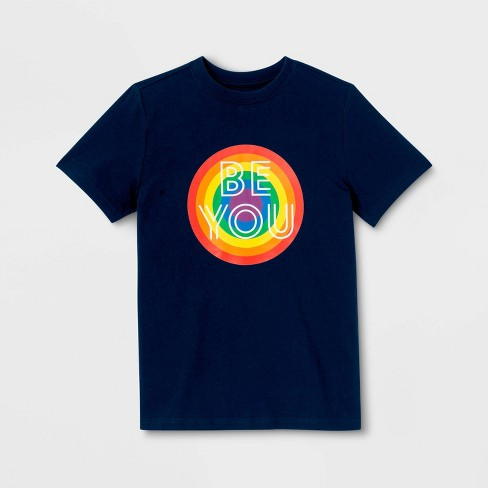 Pride Gender Inclusive Kids' Be You Graphic T-Shirt - Federal Blue - image 1 of 1