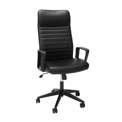 Basyx Attire Bonded Leather Executive Chair Black - HON
