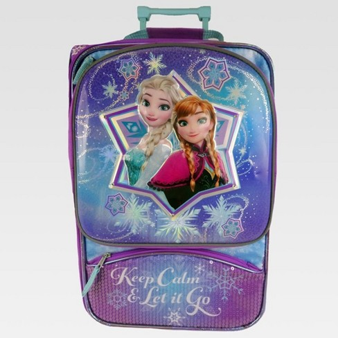 "Frozen 18"" Light Up Kids' Carry On Suitcase - Purple/Aqua - image 1 of 5"