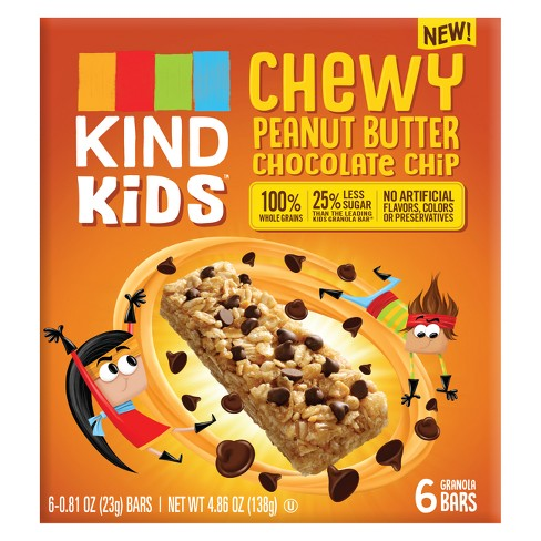 KIND Kid's Chewy Peanut Butter Chocolate Chip Granola Bars - 4.86oz - image 1 of 3